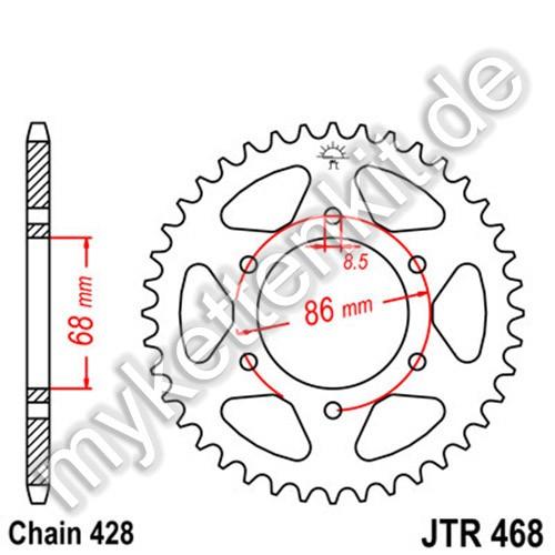 Kettenrad JTR468 Stahl