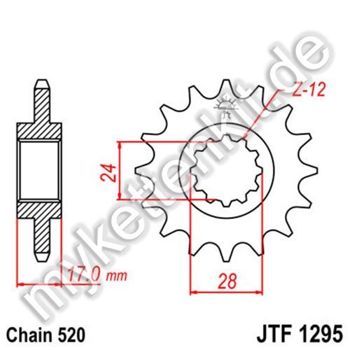 Ritzel JT Sprockets JTF1295