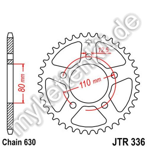 Kettenrad JTR336 Stahl