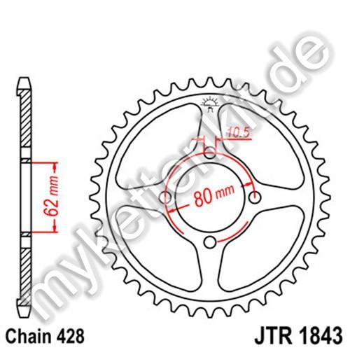 Kettenrad JTR1843 Stahl