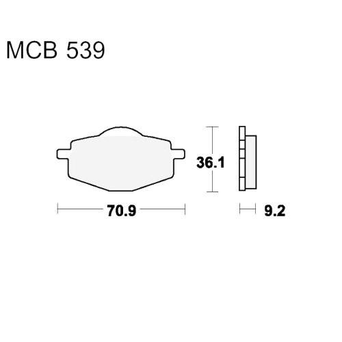 Bremsklotz Standard TRW MCB539 (1 Satz)