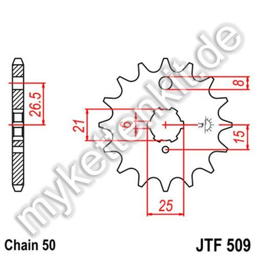 Ritzel JT Sprockets JTF509