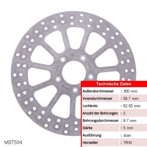 Bremsscheibe starr TRW MST504 (1 Stück)