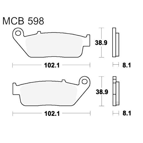 Bremsklotz Sinter vorne TRW MCB598SV (1 Satz)