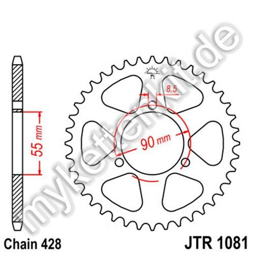 Kettenrad JTR1081 Stahl