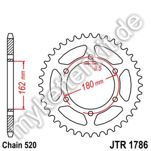 Kettenrad JTR1786 Stahl