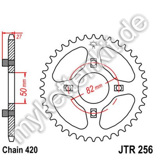 Kettenrad JTR256 Stahl