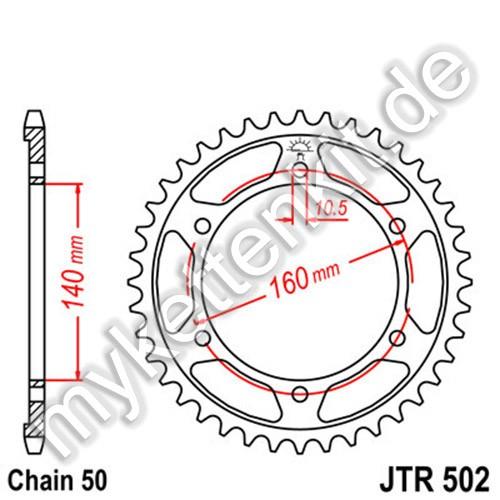 Kettenrad JTR502 Stahl