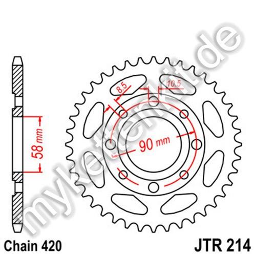 Kettenrad JTR214 Stahl