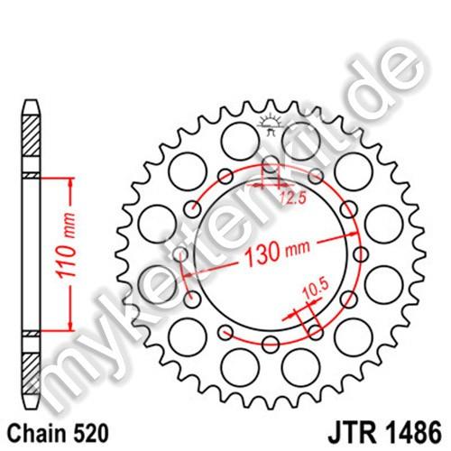Kettenrad JTR1486 Stahl