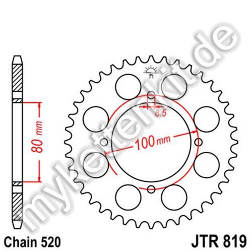 Kettenrad JTR819 Stahl