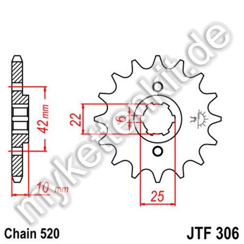 Ritzel JT Sprockets JTF306