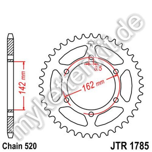 Kettenrad JTR1785 Stahl