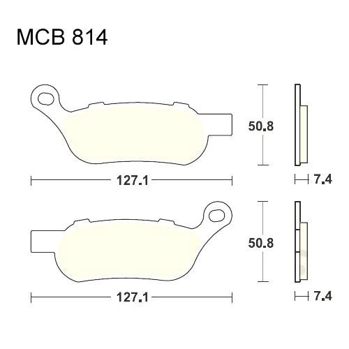 Bremsklotz Sinter hinten TRW MCB814SH (1 Satz)