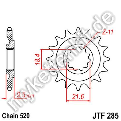 Ritzel JT Sprockets JTF285