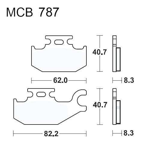 Bremsklotz Sinter SI TRW MCB787SI (1 Satz)