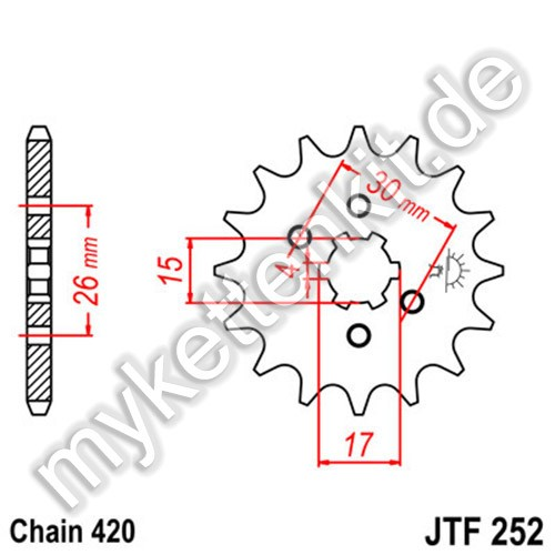 Ritzel JT Sprockets JTF252