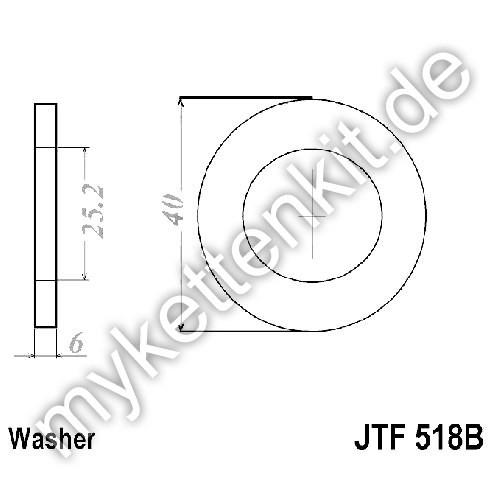 Ausgleichsscheibe JT Sprockets JT518B