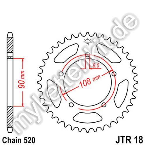 Kettenrad JTR18 Stahl