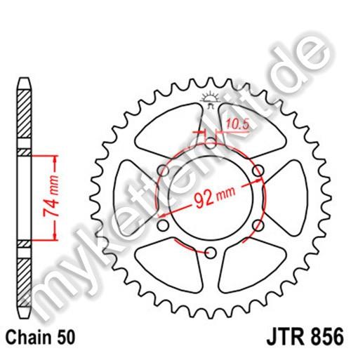 Kettenrad JTR856 Stahl
