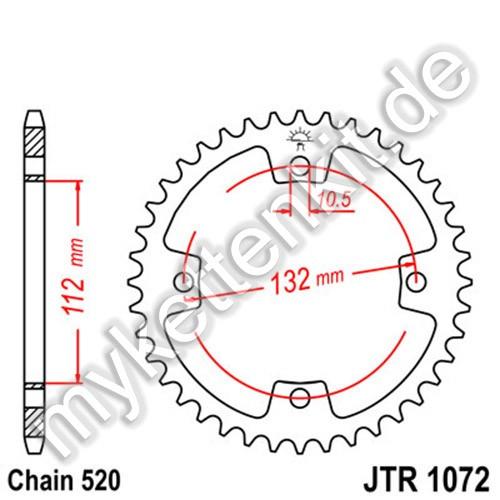 Kettenrad JTR1072 Stahl