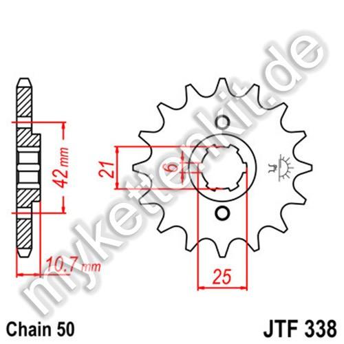 Ritzel JT Sprockets JTF338