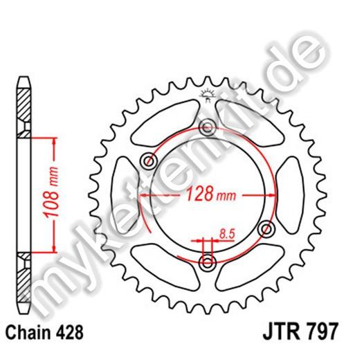 Kettenrad JTR797 Stahl
