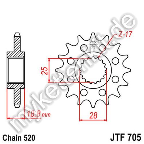 Ritzel JT Sprockets JTF705
