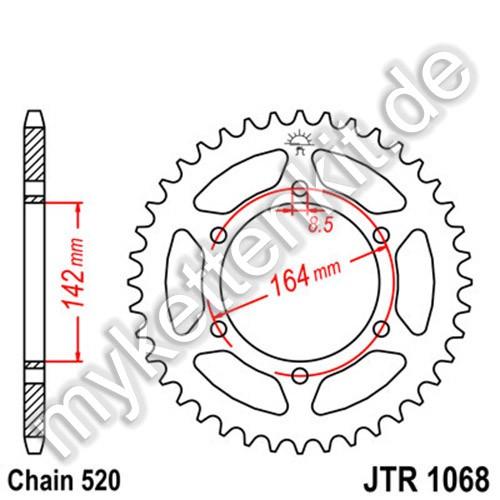 Kettenrad JTR1068 Stahl