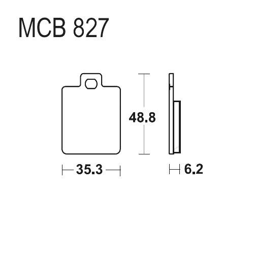 Bremsklotz Standard TRW MCB827 (1 Satz)