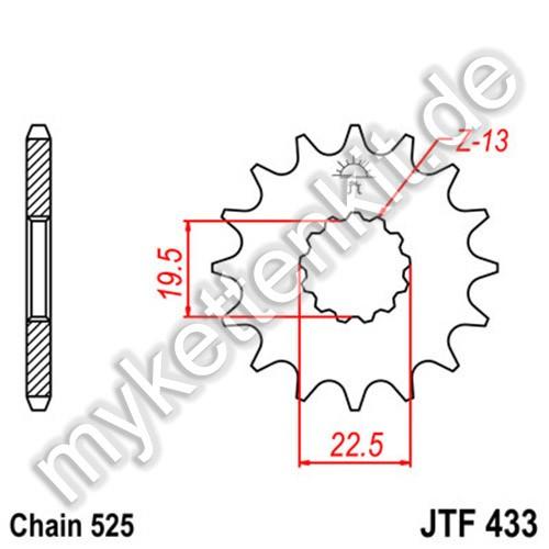 Ritzel JT Sprockets JTF433