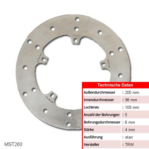 Bremsscheibe starr TRW MST260 (1 Stück)