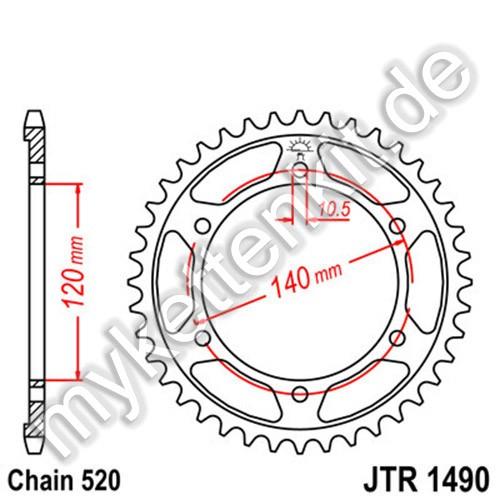 Kettenrad JTR1490 Stahl