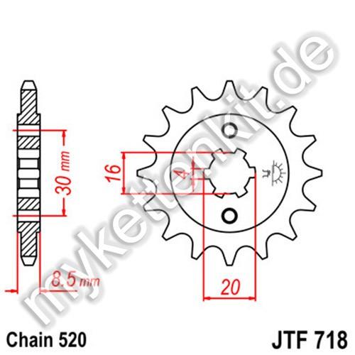 Ritzel JT Sprockets JTF718