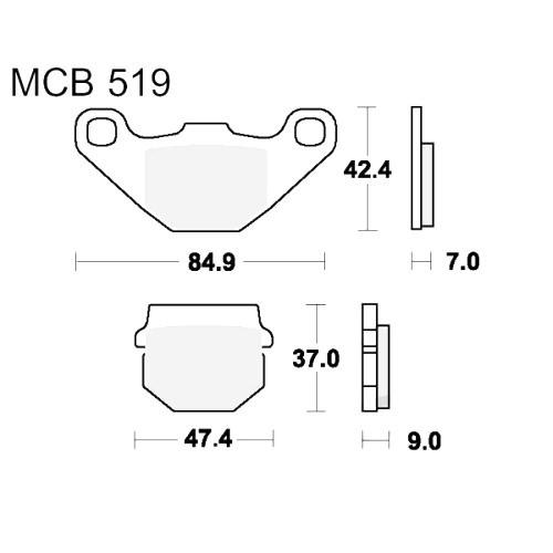 Bremsklotz Standard TRW MCB519 (1 Satz)