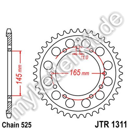 Kettenrad JTR1311 Stahl