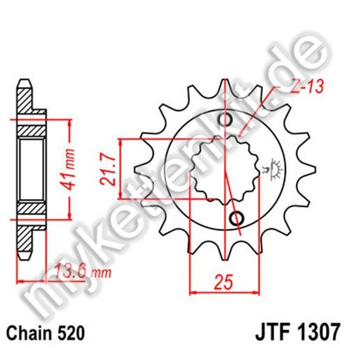 Ritzel JT Sprockets JTF1307
