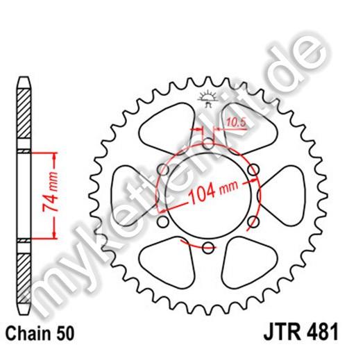 Kettenrad JTR481 Stahl