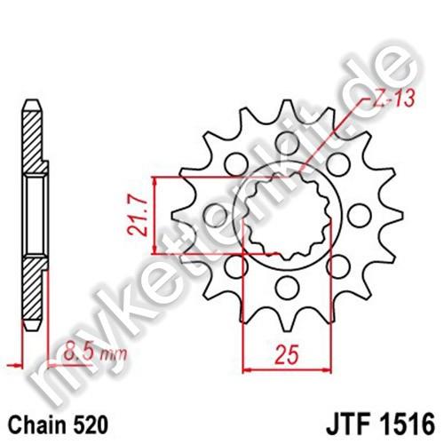 Ritzel JT Sprockets JTF1516