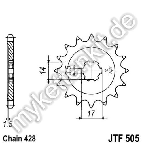 Ritzel JT Sprockets JTF505