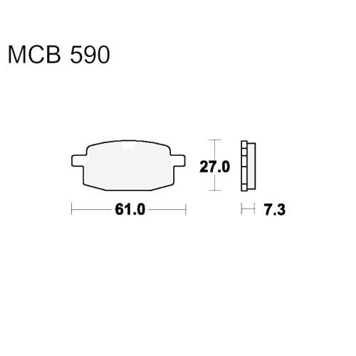 Bremsklotz Standard TRW MCB590 (1 Satz)