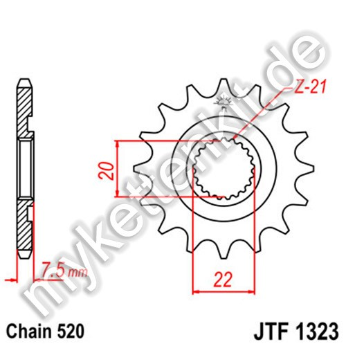 Ritzel JT Sprockets JTF1323