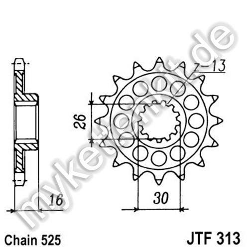 Ritzel JT Sprockets JTF313