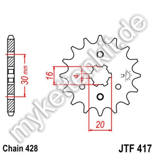 Ritzel JT Sprockets JTF417