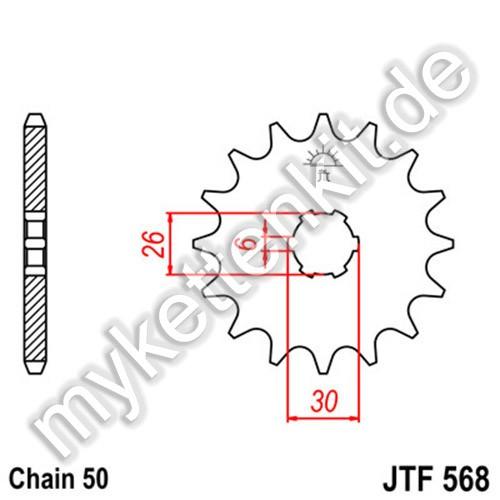 Ritzel JT Sprockets JTF568