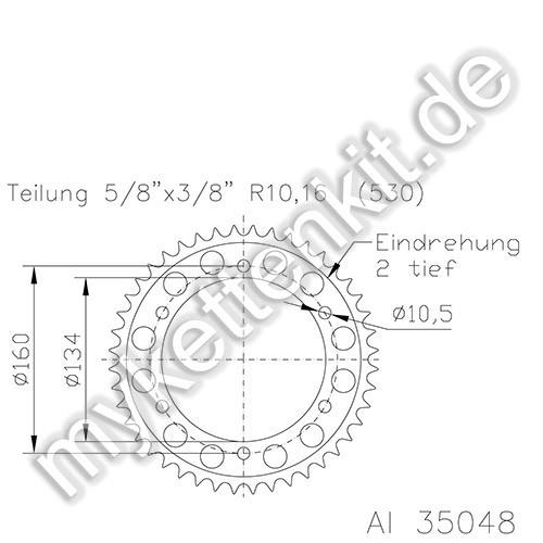Kettenrad K51-35048 Alu
