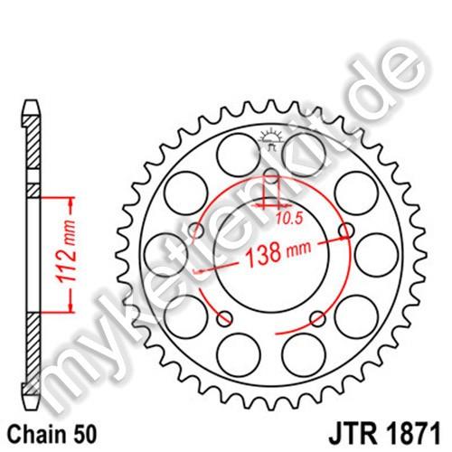 Kettenrad JTR1871 Stahl
