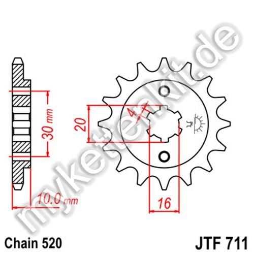Ritzel JT Sprockets JTF711