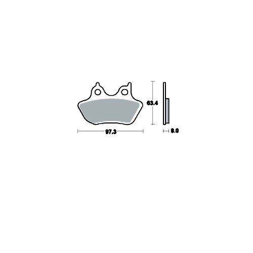 Bremsklotz Sinter vorne TRW MCB777SV (1 Satz)