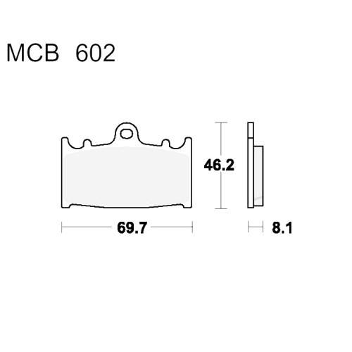 Bremsklotz Sinter SRT TRW MCB602SRT (1 Satz)